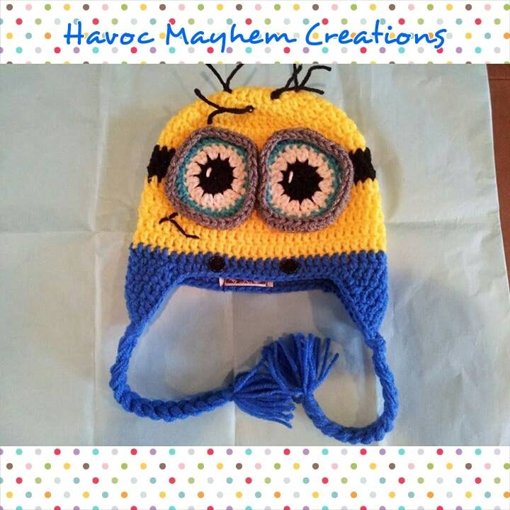 Tutorial on how to crochet a Despicable Me Character Minion Beanie ...