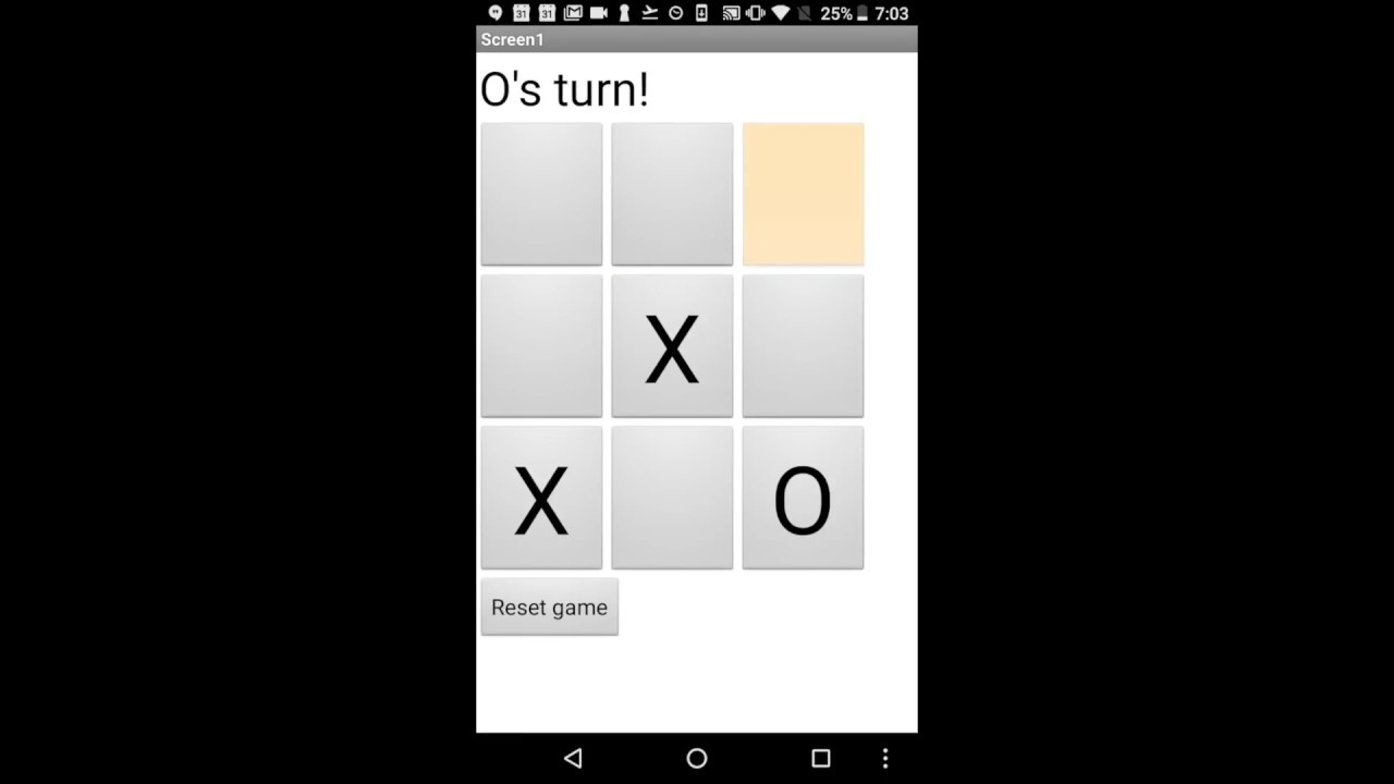 App Inventor Tic Tac Toe Tutorial: More Procedures, For Loops, and Lists