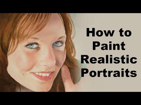 How to paint portraits - Realistic portrait painting tutorial
