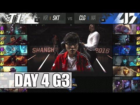 SK Telecom T1 vs CLG | Day 4 Mid Season Invitational 2016 | SKT vs CLG G2 MSI 1080p
