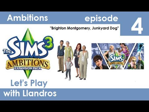 Let's Play The Sims 3 Seasons (Ambitions Edition) - Episode 4 - Brighton Montgomery, Junkyard Dog