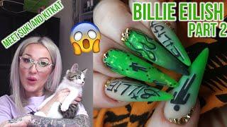 Billie Eilish Nail Art Part 2 ft. My New Kittens