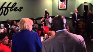 Hillary Clinton Visits Kiki's Chicken And Waffles