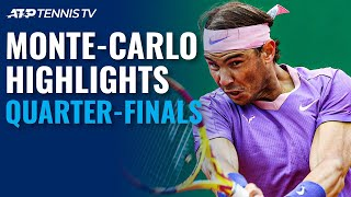 Nadal v Rublev; Tsitsipas, Fognini & Goffin In Action | Monte-Carlo 2021 Quarter-Final Highlights