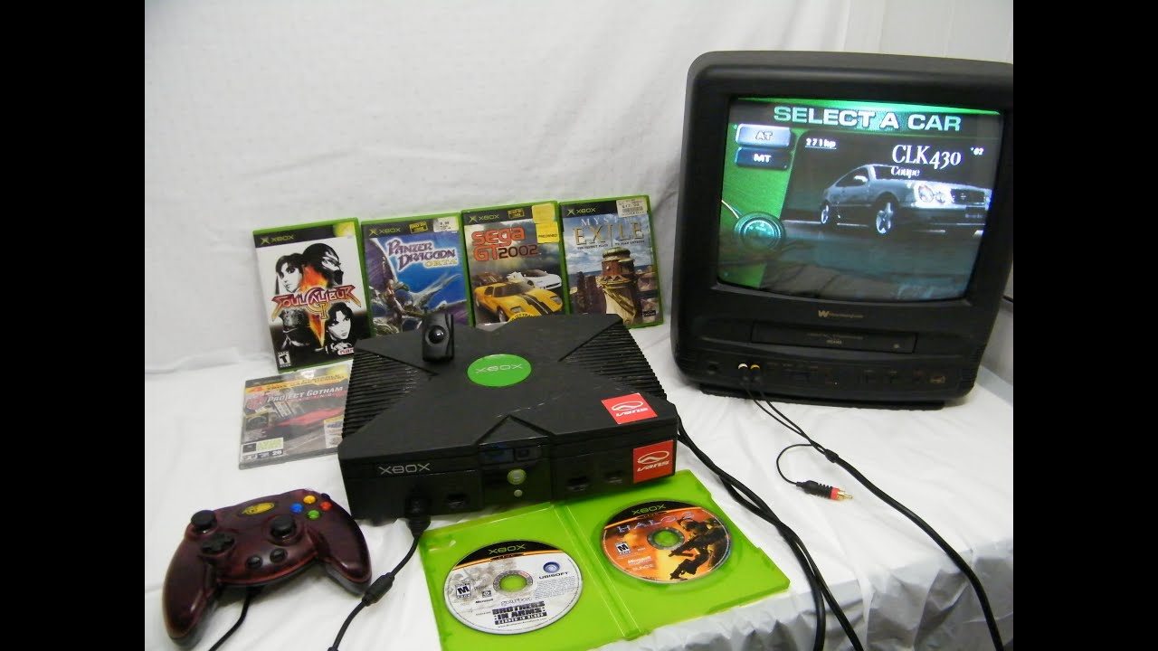 X Box Games For The Orginal : Microsoft original xbox console w games youtube