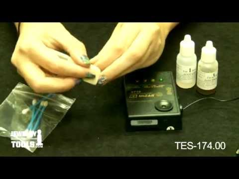 TES-174.00 - RS Mizar ET-18 Gold Tester - Jewelry Tools Demo