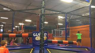 Wipe Out fun at Sky Zone, part 4