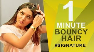 How to get Bouncy Hair | Vani Bhojan's Hair Secret #Signature