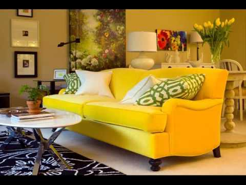 Yellow Leather Sofas | Yellow Leather Loveseat Collection ...