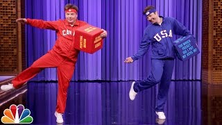 Mike Myers and Jimmy Have a Dice Dance-Off