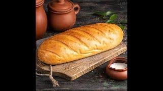 Домашний хлеб Батон В духовке Своими руками Домашний рецепт Подробный рецепт