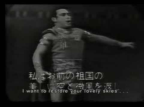"""Mario Del Monaco  in Aida Tokyo 1961 """"Celeste Aida"""""""