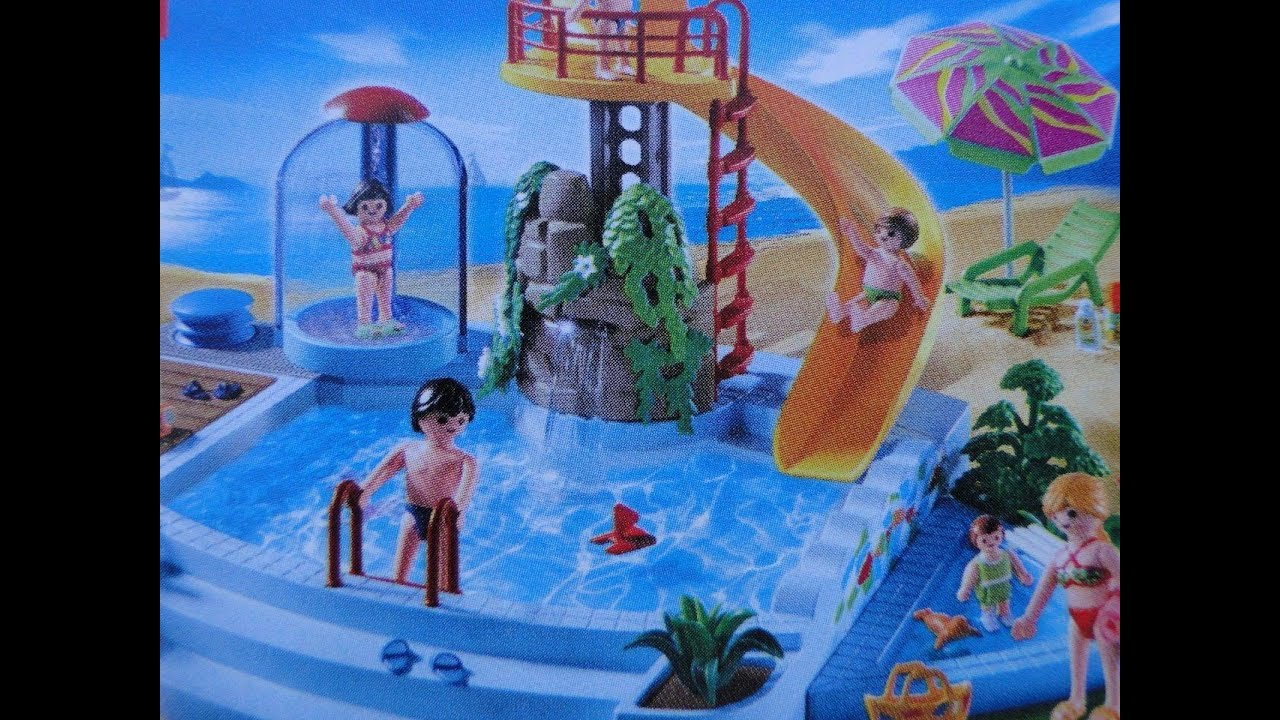 Playmobil pool piscine freibad 4858 demo youtube for Piscine de playmobil