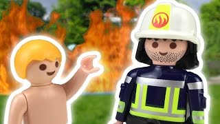 PLAYMOBIL Movie Fire Department  🚒 Fire Brigade in Danger 🔥 Pandido Toys