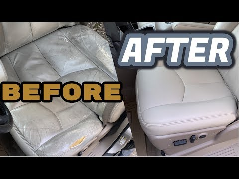 These Seats Have Seen a Whole Lotta A$$ | Super Cleaning Leather/Recovering