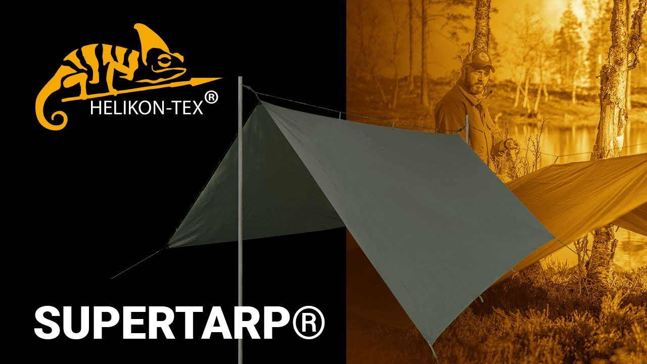 HELIKON-Tex supertarp-poliéster ripstop-negro