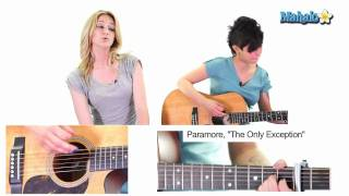 """Play Video 'How to Play """"The Only Exception"""" by Paramore on Guitar (Practice Video)'"""