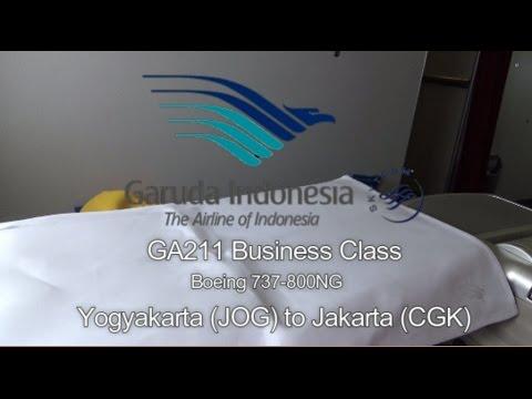 Garuda Indonesia Experience Domestic Executive (Business) Class Boeing 737-800 Yogyakarta - Jakarta