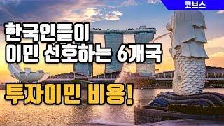 한국인들이 이민 선호하는 6개 국가들의 투자이민 비용!