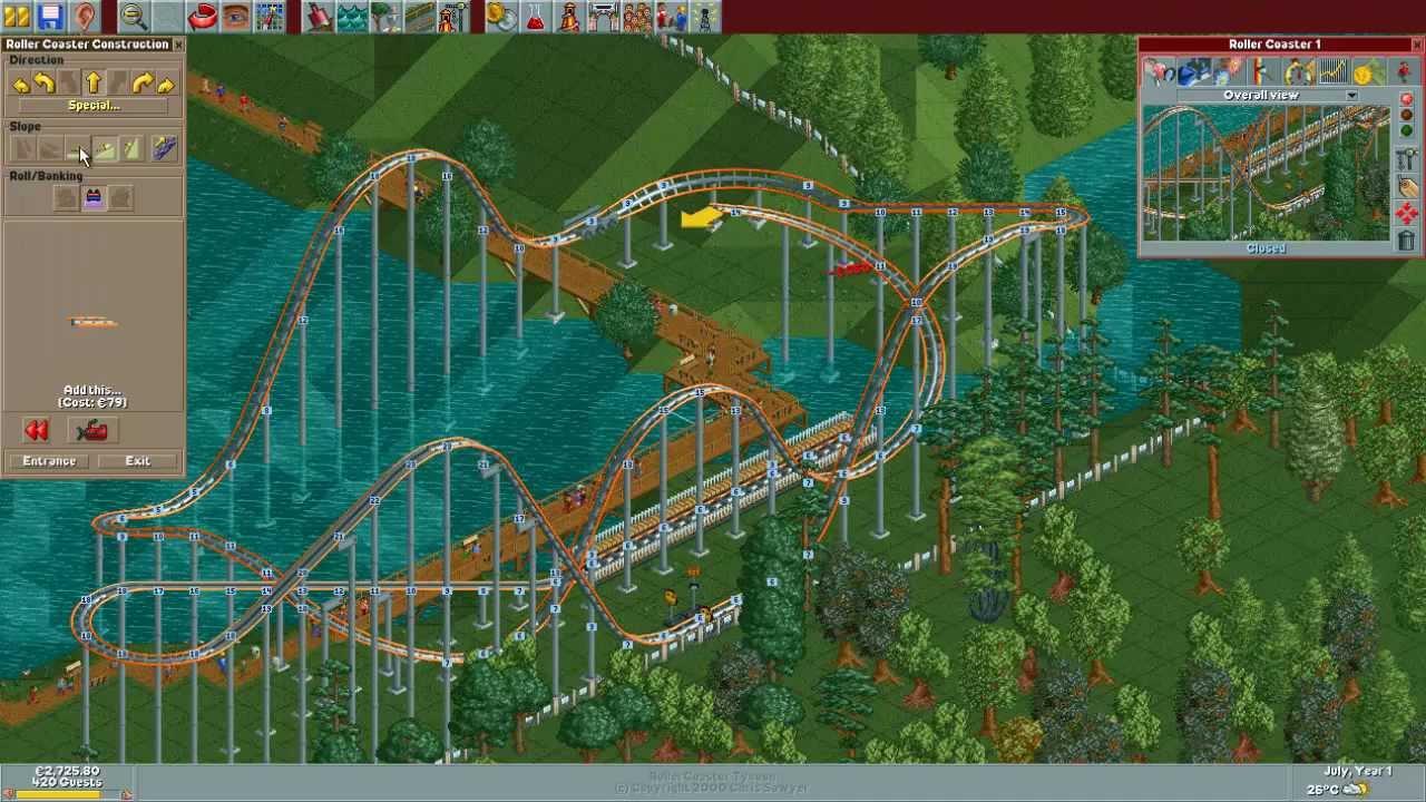 Rollercoaster Tycoon Deluxe Vollbild