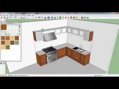 Sketch Up Tutorial membuat Kitchen Set