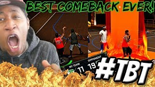BEST COMEBACK IN 2K17 PARK HISTORY! TRASH TALKERS BLEW A 19-11 LEAD! 4 GREEN 3s INA ROW - #TBT