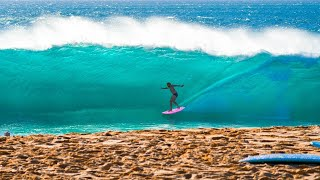 TOW-IN SURFING AT THE HEAVIEST SHORE BREAK IN HAWAII