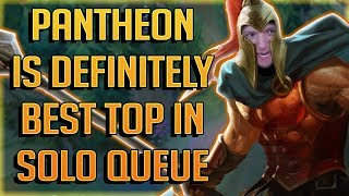 HOW TO CARRY 70%+ OF GAMES IN SOLO QUEUE! - Pantheon Top Guide Season 7 - Best Top Laners Patch 7.17