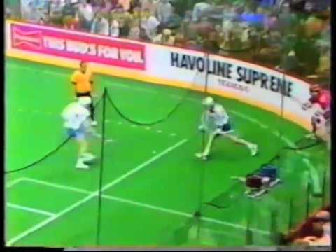Old School Lacrosse: IBLA USA vs Canada Box 1985