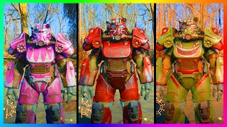 Fallout 4 Ultimate Rare Power Armor Paint Job Colors Locations & Guide! (Fallout 4)