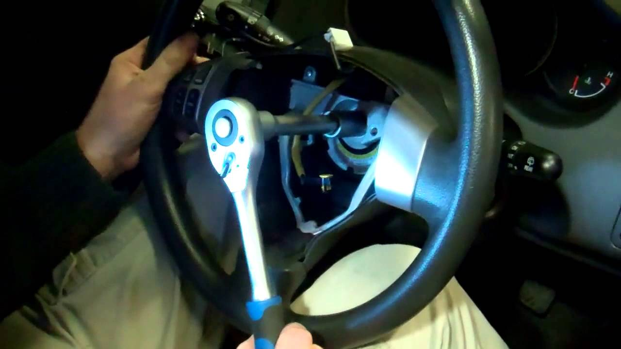 How To Change Remove The Steering Wheel Air Bag On