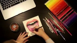 How to Draw a Realistic Tongue: Curled Tongue Time Lapse