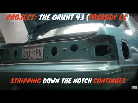 93 Foxbody Coyote Swap Building (part 4) Stripping Down By Folleh Shar Tamba