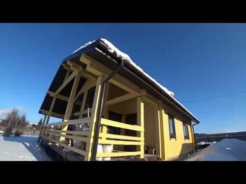 Дом-дача  из клееного бруса в Ленобласти.