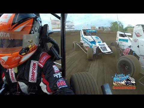 Christopher Bell Onboard | Belle-Clair Speedway Heat Race | April 29th, 2016