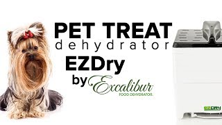 Healthy pet treat recipe with the Excalibur EZDry dehydrator