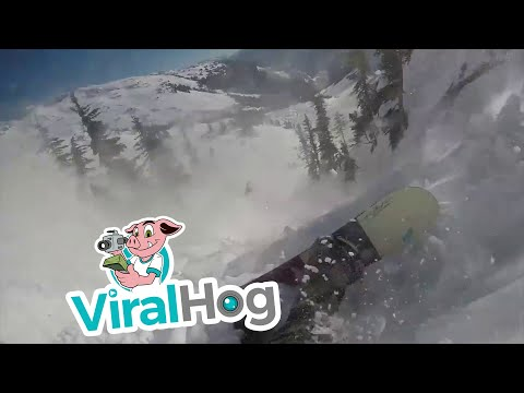 Snowboarder Survives Avalanche