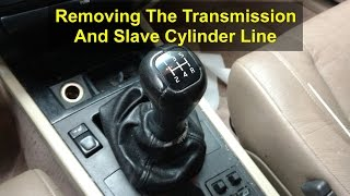 Manual transmission removal from donor vehicle car, Volvo 850, S70, V70, etc. - VOTD