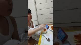 묵은지도드람한돈오겹살아들과먹방6
