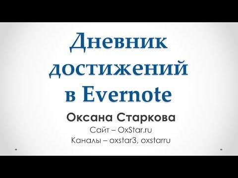 Дневник достижений (Дневник успеха) в Evernote – Как я веду дневник достижений в Evernote