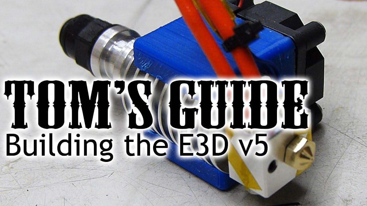 3D printing guides - Assembling the E3D v5 hotend