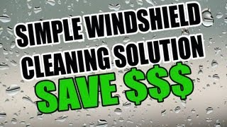 how to wash your windshield