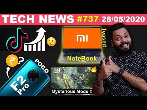 Mi NoteBook Teased, TikTok Rating🤯, POCO F2 Pro India Price,PUBG Mysterious Mode,Galaxy A31-#TTN737