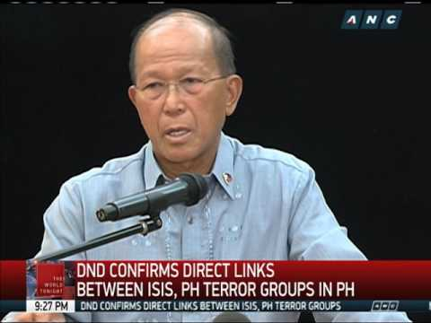 DND confirms direct links between ISIS, PH terror groups
