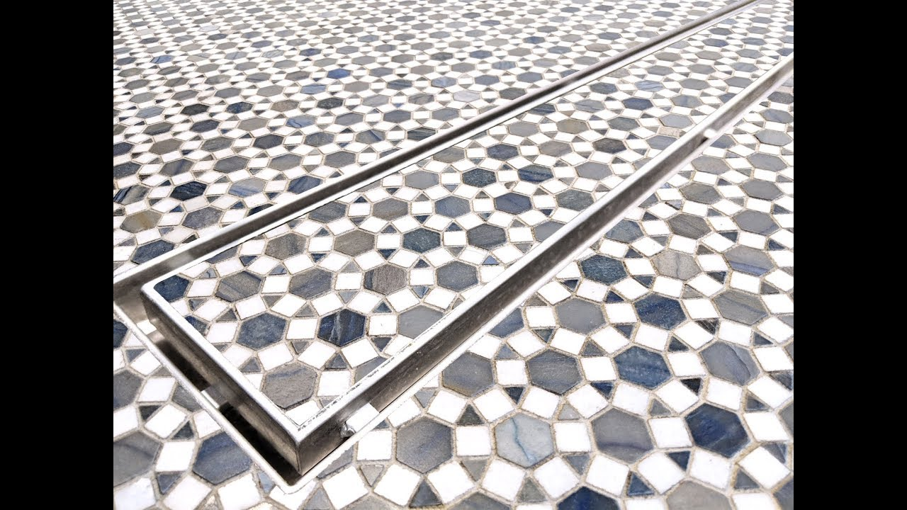 how to design with tile in linear drains