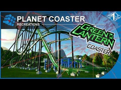 Planet Coaster Recreations 01 - Green Lantern Coaster - Movie World Australia