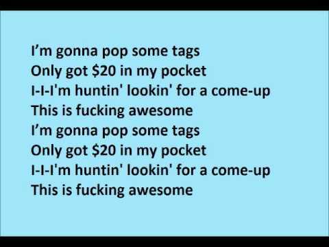 Thrift Shop (feat. Wanz) - Macklemore Ft Ryan Lewis LYRICS