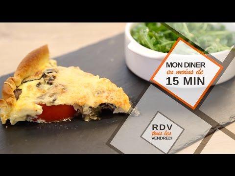 Une tarte aux légumes en moins de 15 minutes