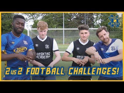 2 vs 2 FOOTBALL CHALLENGES!   SPENCER FC + SCOTTY P vs JEMEL + DURKSS!