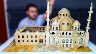 طريقة صنع مسجد من الكرتون # صنع اشياء من كرتون